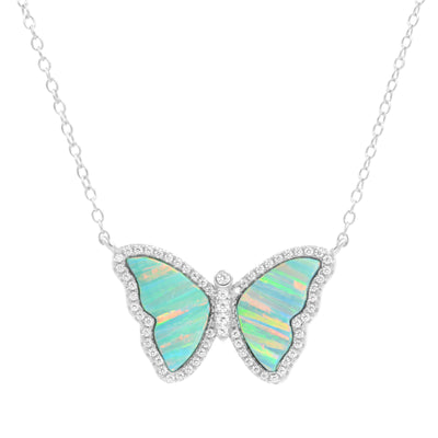 Opal Butterfly with Stripes
