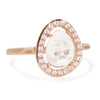 Deanna Halo Ring With Quartz in Rose Gold