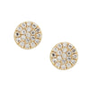 Diamond Disk Stud Earrings in 14k Yellow Gold