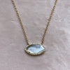 Diamond Slice Necklace in Yellow 14k Gold With Diamonds - Marquise  Lifestyle