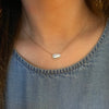 Diamond Slice Necklace in 14k Yellow Gold - Mariah