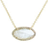 Diamond Slice Necklace in Yellow 14k Gold With Diamonds - Marquise  Long