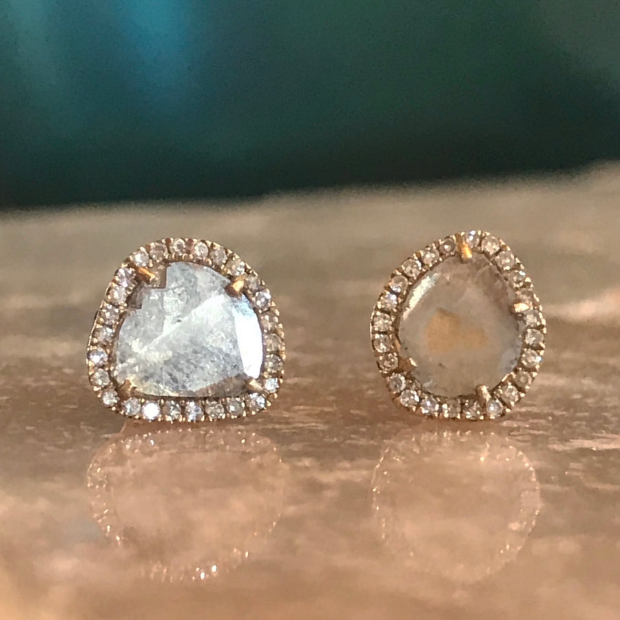 Diamond Slice Studs