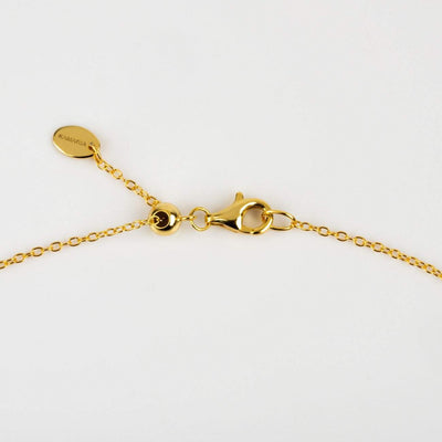 Double Slider Ball Adjustable Kamaria Necklace in Gold
