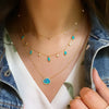 Drops of Spring Turquoise Necklace Lifestyle Layered