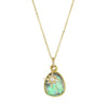 Green Tourmaline Necklace With Diamond Star Charm