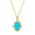 Hamsa Hand Necklace in Turquoise