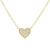 Mini Diamond Heart Necklace in 14k Gold