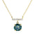 Montana Sapphire Necklace With Diamond Bar