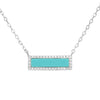 Reflection Turquoise Bar Necklace With Crystals