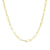 Paperclip Link Chain Necklace in 14k Gold
