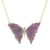 Purple Paraiba Tourmaline Butterfly Necklace With Diamonds