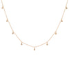 Teardrop Diamond Choker Necklace in 14k Rose Gold