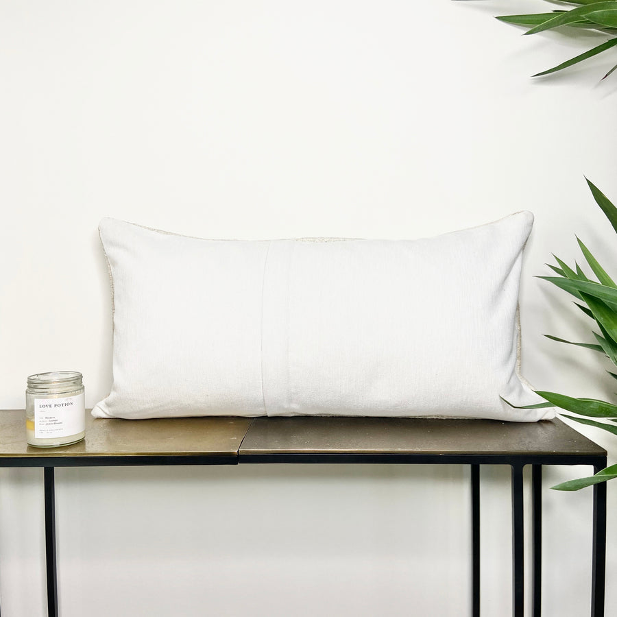 Turkish Hemp Lumbar Pillow Rain