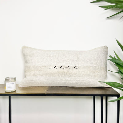 Turkish Hemp Lumbar Pillow Wave