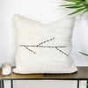 Turkish Hemp Throw Pillow Branch