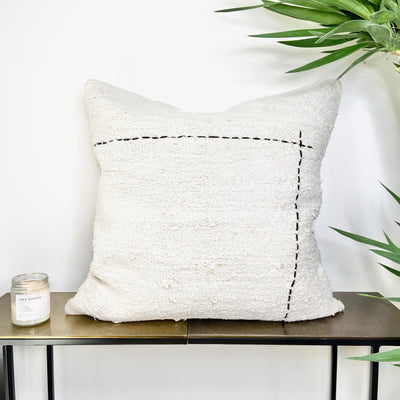 Turkish Hemp Throw Pillow corner