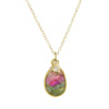 Watermelon Tourmaline with Heart Diamond Charm