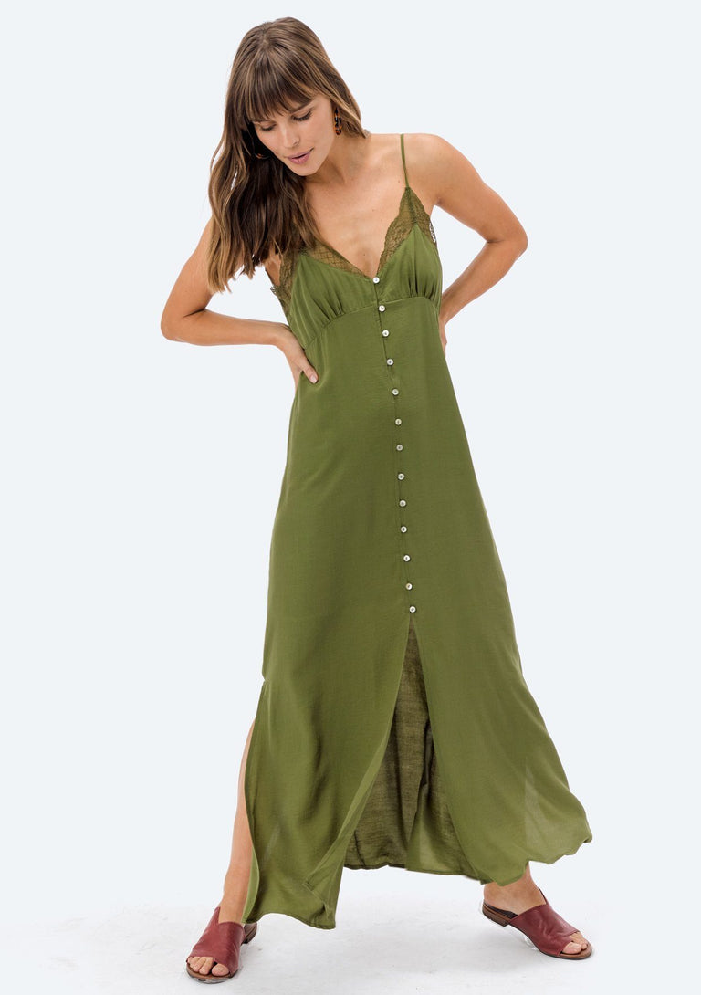 Avocado Lace Dress