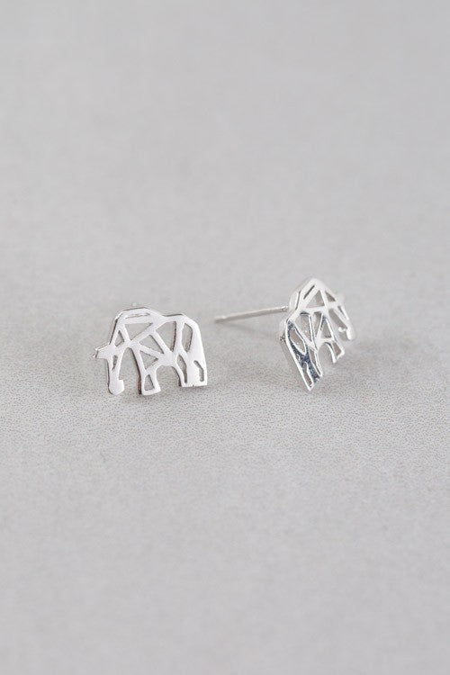Elephant Origami Earrings