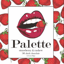 Load image into Gallery viewer, Palette Strawberry & Cashew Chocolate Bar