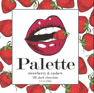 Palette Strawberry & Cashew Chocolate Bar