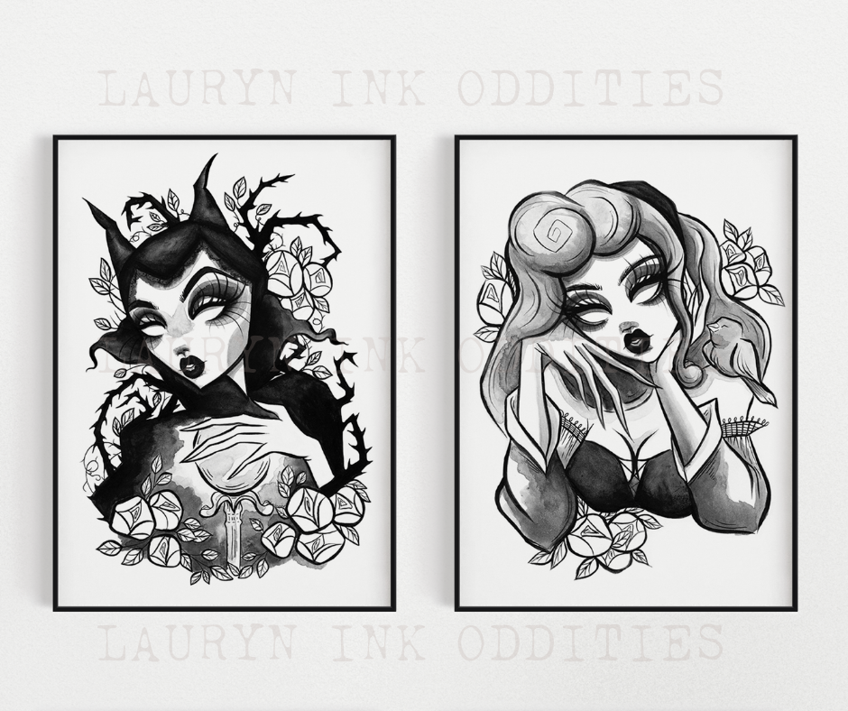 """BRIAR ROSE + MALEFICENT"" - Print Bundle"