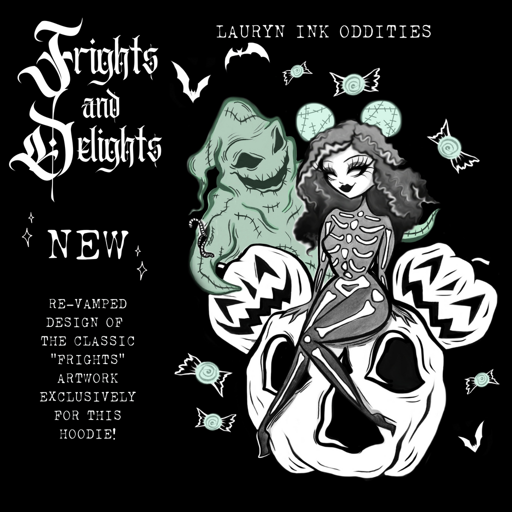 """FRIGHTS + DELIGHTS"" - FLEECE HOODIE *FINAL SALE*"