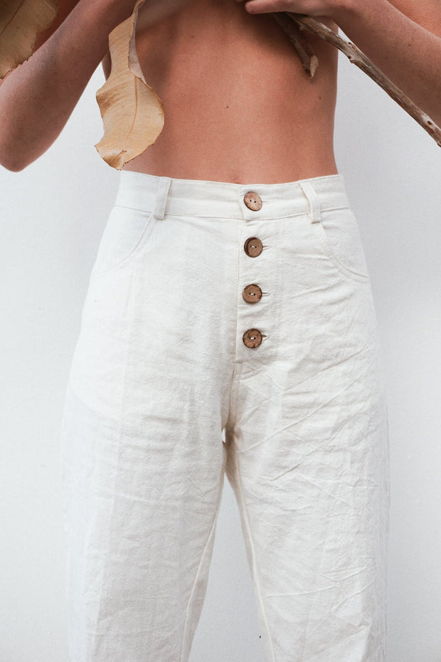Calma Pants - Linen Cotton Blend