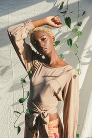 Camilla Wrap Top in Sand