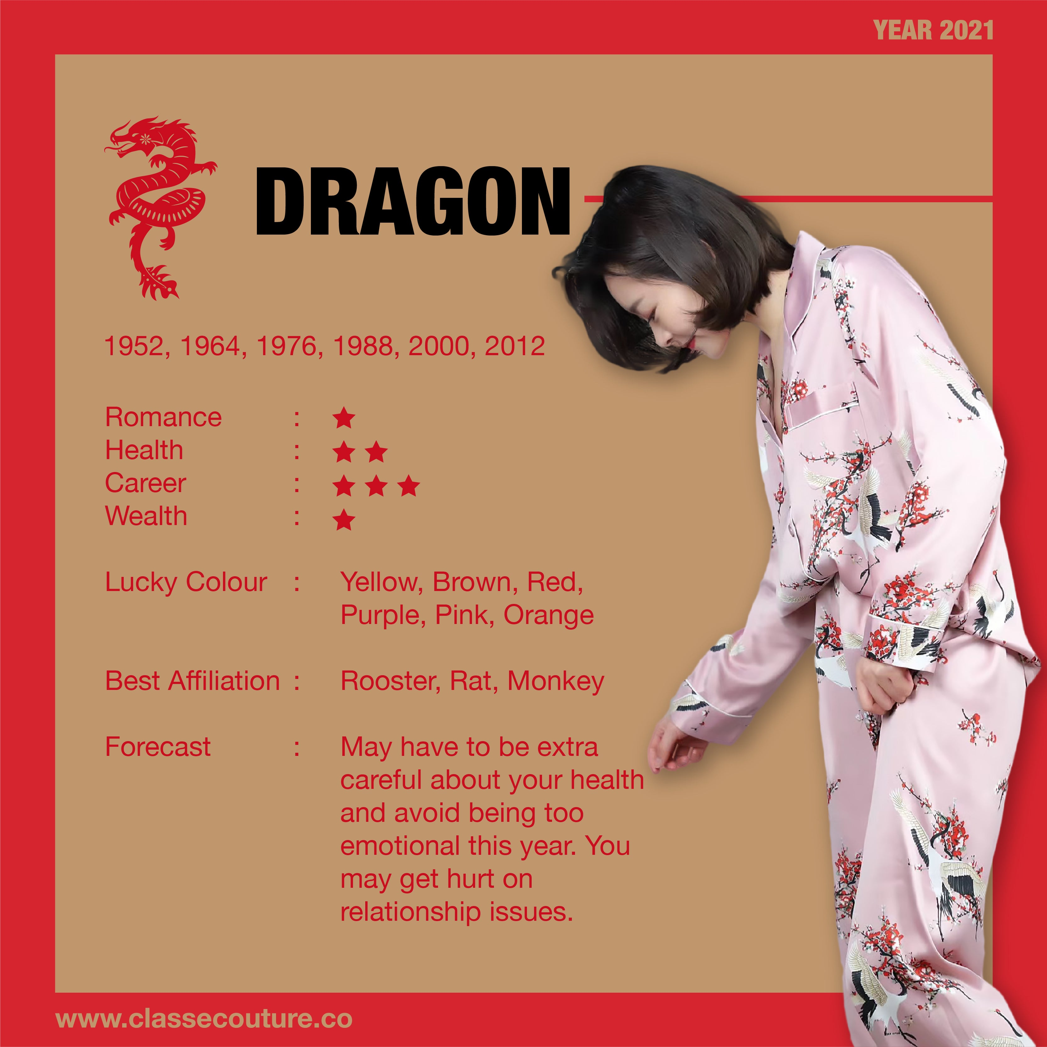 Chinese Horoscope year 2021 - year of the Ox. Yearly Feng Shui forecast and summarises about Dragon Horoscope in year 2021!