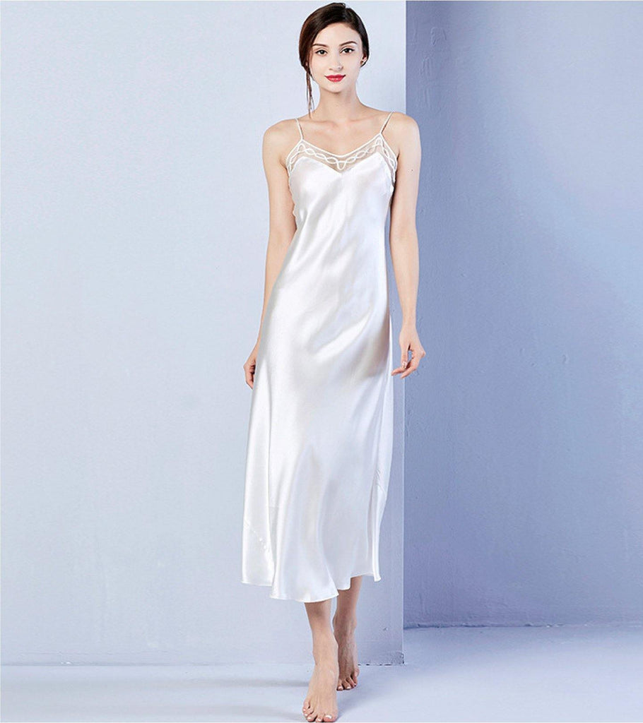 [ Pre-Order ] Artemis Strappy Long Dress | Mulberry Silk PJ - Classé Couture