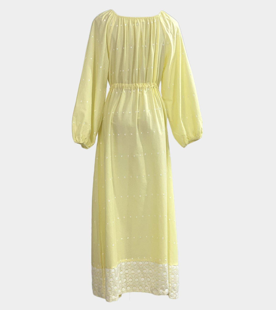 Titiana (Yellow)  | Natural Cotton - Classé Couture