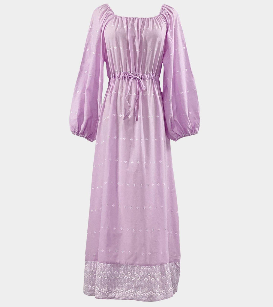 Titiana (Purple)  | Natural Cotton - Classé Couture