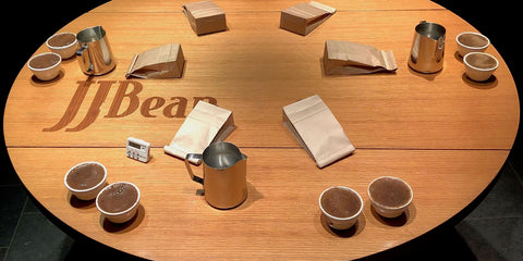JJ Bean Cupping Samples Table