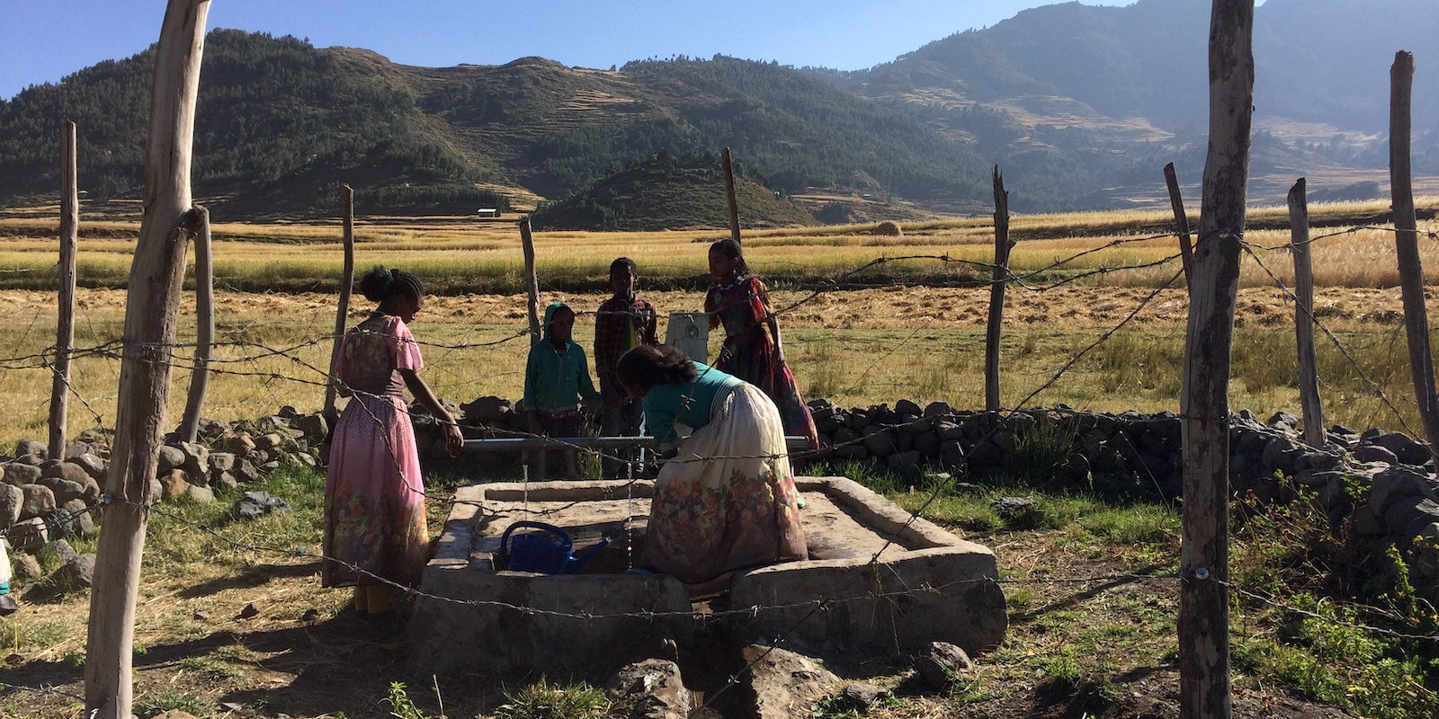 JJ Bean & Run For Water's first well in Ethiopia