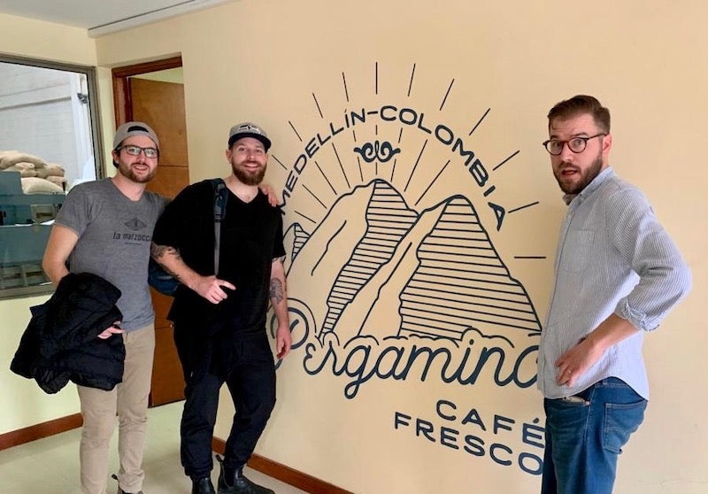 Spencer, Jesse, and Grady at Pergamino