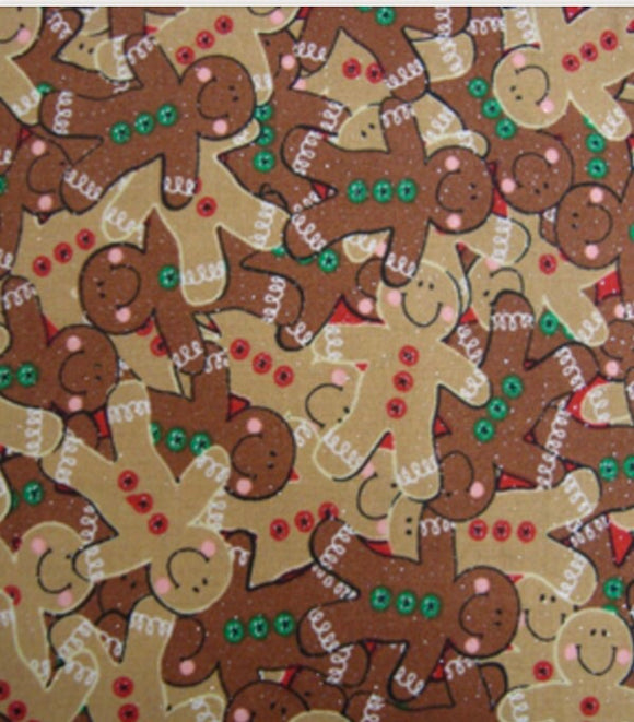 Glitter Gingerbread Pet Bandanna