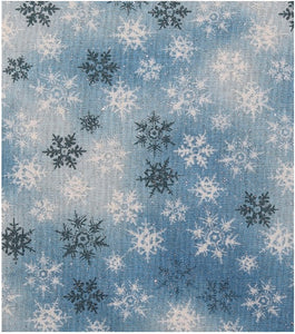 Blue Denim Snowflakes