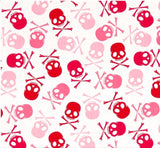 Pink Skulls on White Pet Bandanna