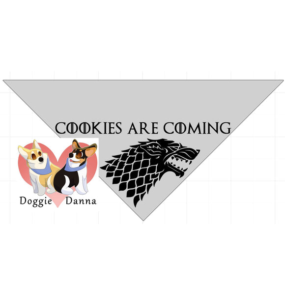 Cookies Are Coming Pet Bandanna