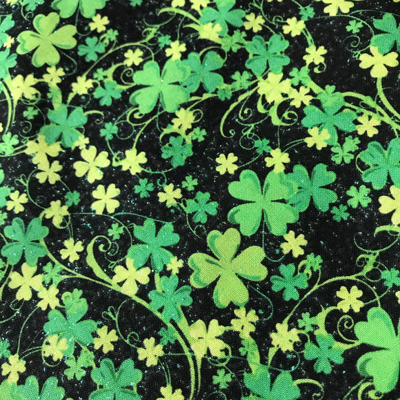Lucky 4 Leaf Clovers with Glitter