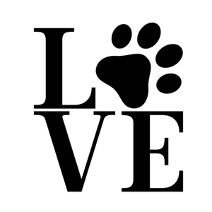 Paw print LOVE Window Decal