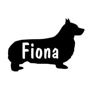 Breed silhouette with name cutout Window Decal