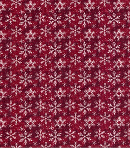 Snowflake on Burgundy Pet Bandanna