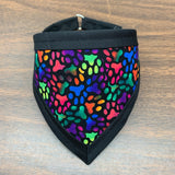 Packed Paw Print Pet Bandanna