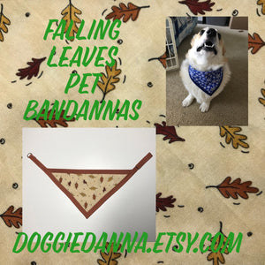 Falling Leaves Pet Bandanna