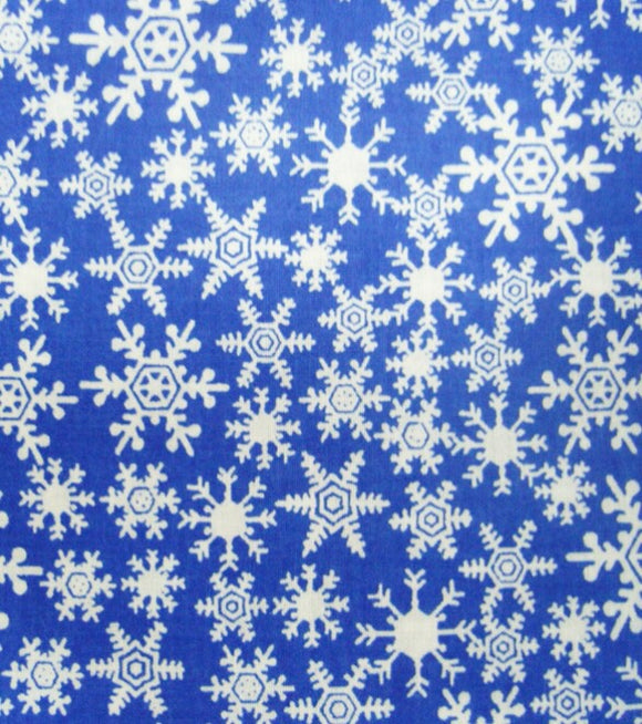 Snowflakes on Blue Pet Bandanna