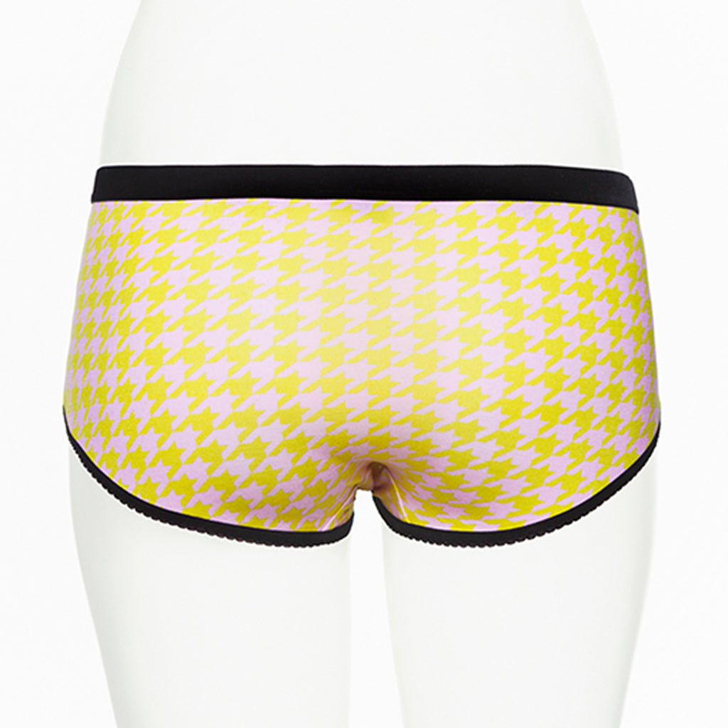 Ruby Limes Insulin Pump Panty with Fashion Pepita Print back view