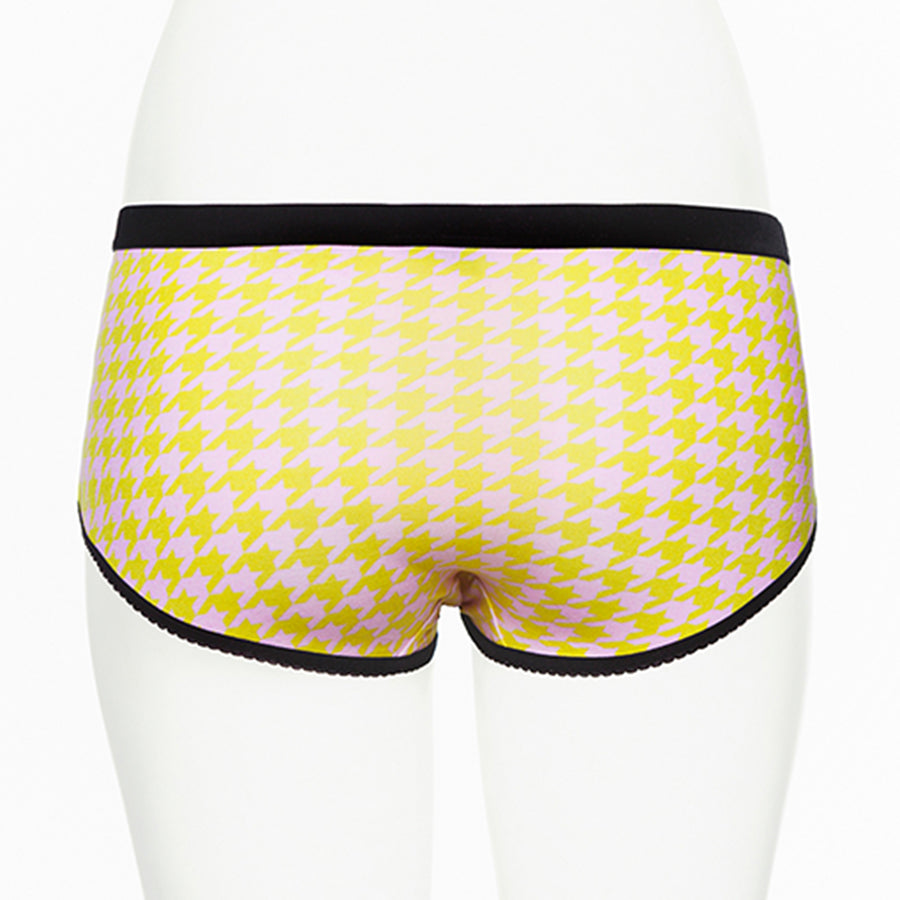Ruby Limes Insulin Pump Panty with Fashion Pepita Print front view